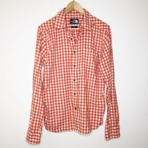 The North Face gingham Button down top